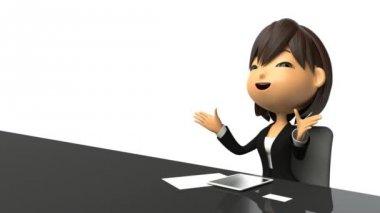 Businesswoman speak in response to the interview — Stock Video
