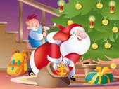 Santa claus eve — Stock Vector