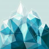 Abstract geometry blue mountain — Stockvektor