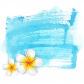 Blue watercolor stain background — Stock Vector