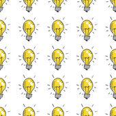 Doodle light bulbs — Stock Vector