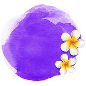 Purple watercolor spa background — Stock Vector