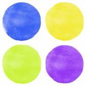 Four bright watercolor circles — Stock Vector