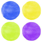 Four bright watercolor circles — Stock Vector