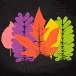 Grunge leaves set — Stock Vector #52687127