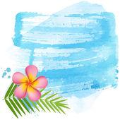 Pink frangipani banner — Vector de stock
