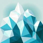Snow mountain background — Stock Vector