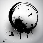 Round black blot — Stock Vector