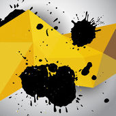Abstract yellow grunge geometric background — Stock Vector