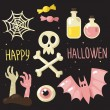 Pink Halloween set — Stock Vector #53471725
