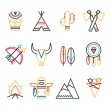 Tribal icon set — Stock Vector #53472001