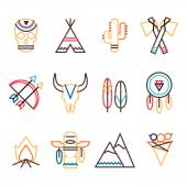 Tribal icon set — Stock Vector