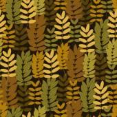 Autumn foliage seamless pattern — Stock Vector