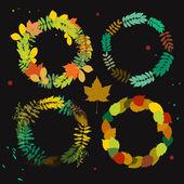 Autumn wreath set — Stock Vector