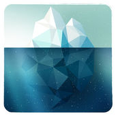 Iceberg picture in frame — Vector de stock