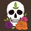 Simple skull with roses — Stock Vector #55047537