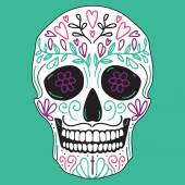 Mexican simple sugar skull — Stock Vector