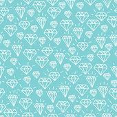 Turquoise diamond seamless pattern — Stock Vector