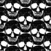Padrão sem emenda de caveira grunge — Vetor de Stock