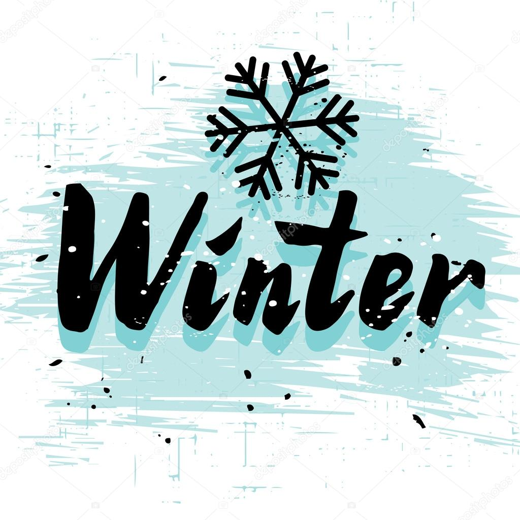 Winter Calligraphy Word Stock Vector 169 Korinoxe 56016413