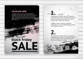 Black friday sale poster — Stock Vector