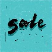 Black sale calligraphy word — Stock Vector