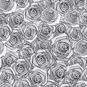 Gray roses seamless pattern — 图库矢量图片