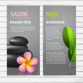 Spa advertisement flyer design — Stock vektor