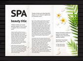 Spa beauty brochure design — Stock Vector