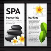 Spa flyer design template — Stock Vector