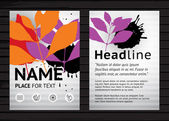 Two side flyer template — Stock Vector