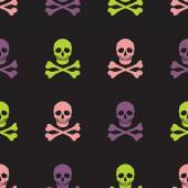 Skull and crossbones  pattern — Vetorial Stock