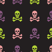 Skull and crossbones  pattern — Vector de stock