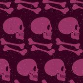 Patrones sin fisuras cráneo — Vector de stock