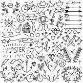 Big hipster set — Stock Vector