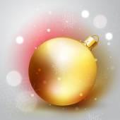 Golden Christmass ball — Stock Vector