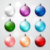 Christmas ball set — Stock Vector