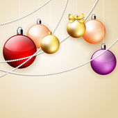 Christmas ornament background — 图库矢量图片