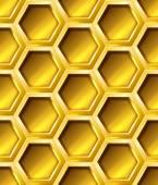 Golden  hexagon grid — Stockvektor