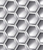 Silver realistic  pattern — Stock Vector