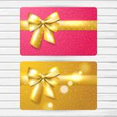 Two bright gift cards — Stock Vector