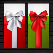 Two vertical gift banners — Stock Vector