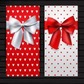 Two banners with bows — Vector de stock