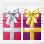 Two banners with bows — Stock Vector