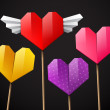 Colorful set of hearts — Stock Vector #62843661