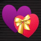 Couple bright hearts — Stock Vector