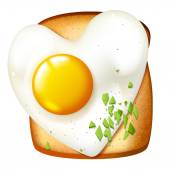 Toasted sandwich with fried egg — Stock Vector