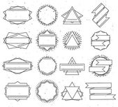 Set of outline design elements — Stock Vector