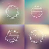Vintage blur backgrounds set — Stock Vector