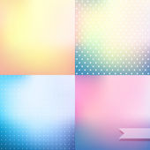 Pastel colored blurred backgrounds — Stok Vektör